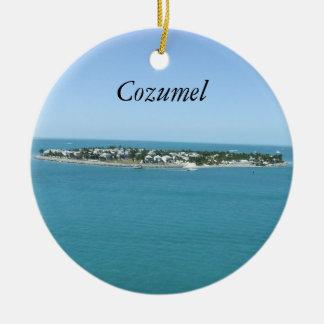 Cozumel blåttvatten tropiska Ornamement Rund Julgransprydnad I Keramik