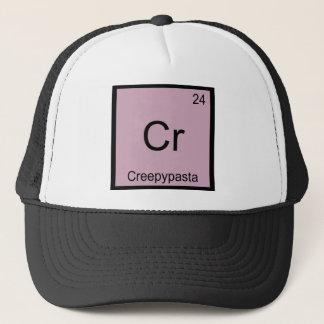 CR - periodiskt bord för Creepypasta Meme kemi Truckerkeps