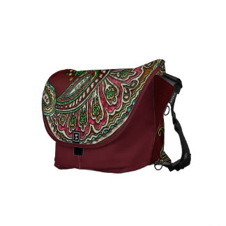 Cranberry Boho Messenger Bag