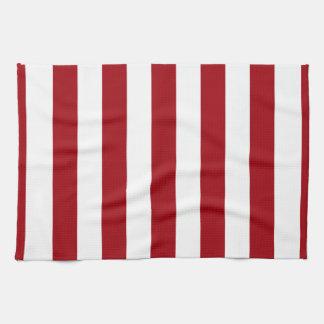 Cranberry mönster för randar för röd och vitXL Kökshandduk