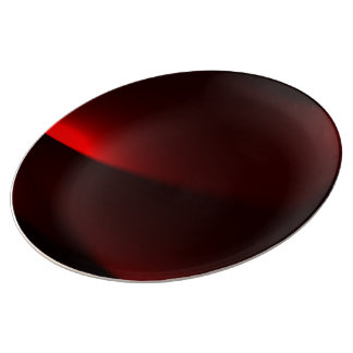 Cranberry- & svartljus porslinstallrik