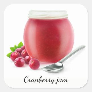 Cranberrygelé Fyrkantigt Klistermärke