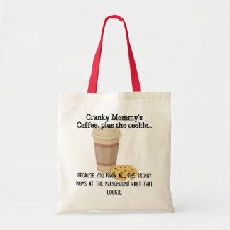 Cranky mommys toto för kaffekaka tygkasse