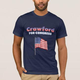 Crawford för den patriotiska amerikanska flaggan t-shirts