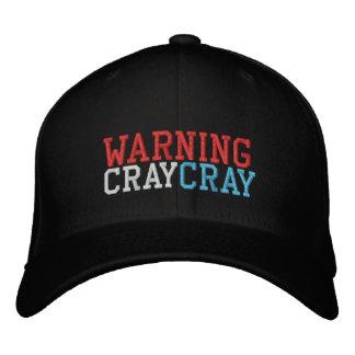 cray cray för varning broderad keps