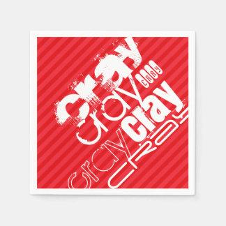 Cray; Scharlakansröda röda randar Pappersservetter