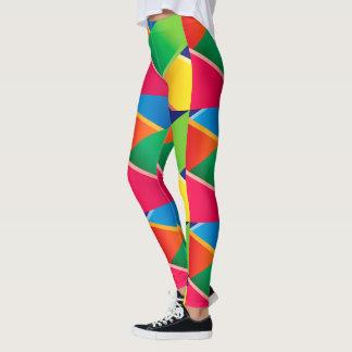 Crayon färgade Diagonalvävar Leggings