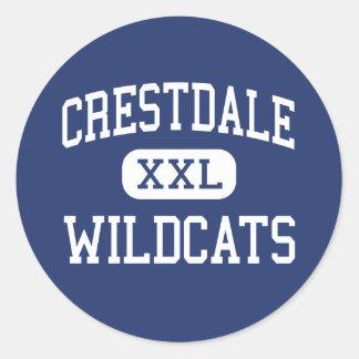 Crestdale vildkattmittet Matthews Runt Klistermärke