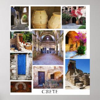 Crete Grekland affisch