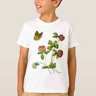 Crewel broderad irländsk klöver t-shirt