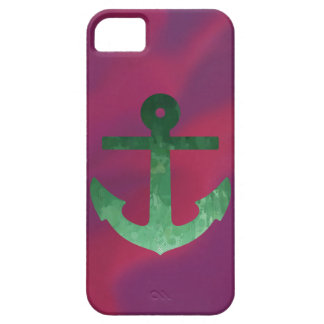 Crimson ankrar gröntar iPhone 5 hud
