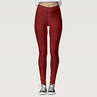 Crimson kanfas leggings