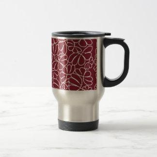Crimson nyckfullt mönster för Ikat blom- Resemugg