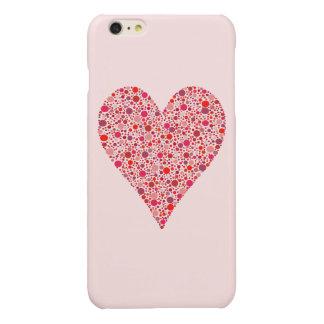 Crimson polka dots för hjärtaShape på rosor
