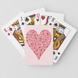 Crimson polka dots för hjärtaShape på rosor Spelkort