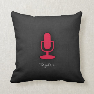 Crimson röd mikrofon kudde