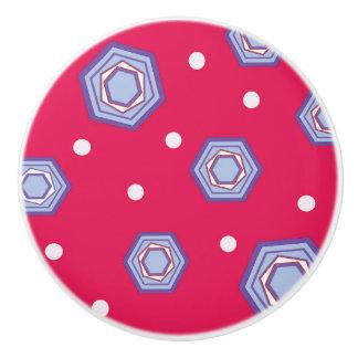 Crimson rosa keramisk handtagknopp för knopp