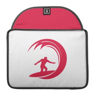 Crimson rött surfa MacBook pro sleeves