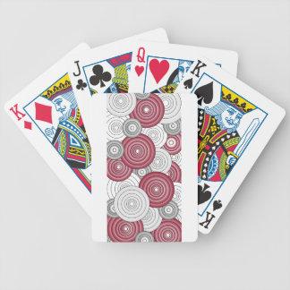 Crimson, vit & grått cirklar leka kort 1 spelkort
