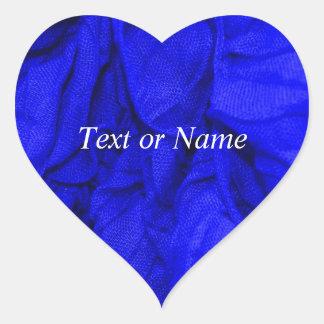 crinkletyger, blått hjärtformade klistermärken