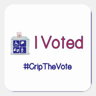 #CripTheVote RÖSTADE JAG stora klistermärkear Fyrkantigt Klistermärke