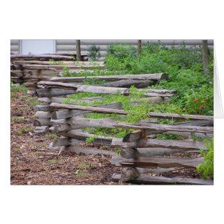 Criss korsning staket hälsningskort