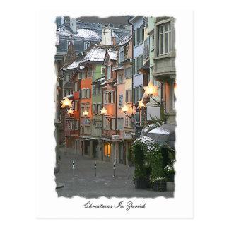 Cristmas i den gammala townen vykort