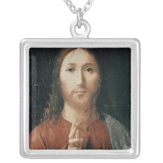 Cristo Salvator Mundi, 1465 Silverpläterat Halsband