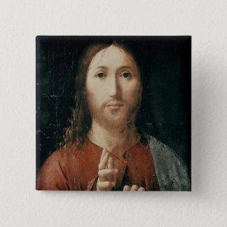 Cristo Salvator Mundi, 1465 Standard Kanpp Fyrkantig 5.1 Cm