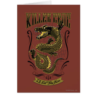 Croc för mördare för självmordSquad | tatuering Hälsningskort