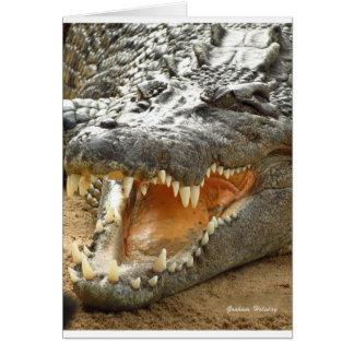 Crocodile.jpg Hälsningskort
