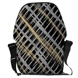 Crosshatch Messenger Bag