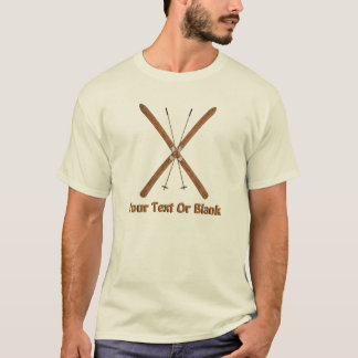 Crosst country skidar och Poles T-shirts