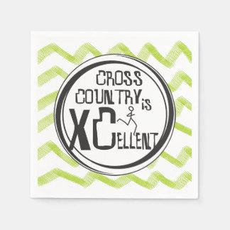 Crosst country spring är XCellent partytillförsel Papper Servetter