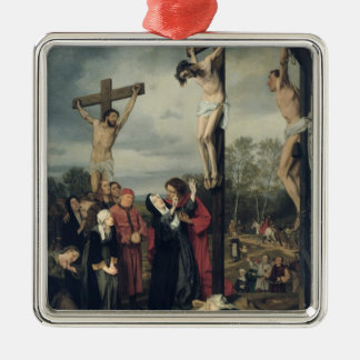 Crucifixion 1873 julgransprydnad metall