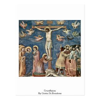 Crucifixion av Giotto Di Bondone Vykort