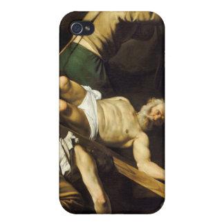 Crucifixion av St Peter - Caravaggio iPhone 4 Fodral