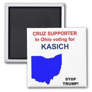 Cruz supporterröstning för Kasich i Ohio Magnet