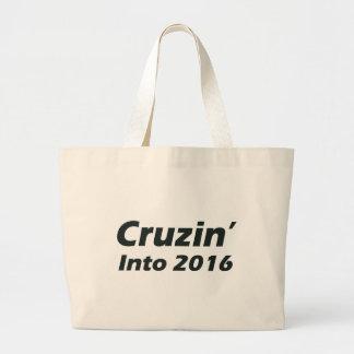 Cruzin in i 2016 - svartvitt jumbo tygkasse