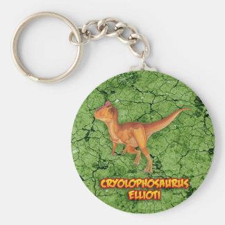 Cryolophosaurus Rund Nyckelring