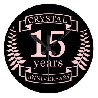 Crystal bröllopsdag 15 år stor klocka