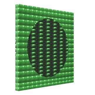 CRYSTAL Chakra för smaragd STJÄRNOR: Canvastryck