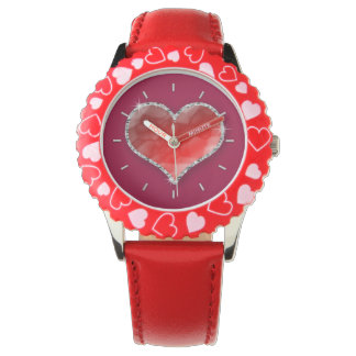Crystal hjärta armbandsur