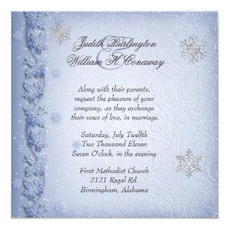 Crystal inbjudan för bröllop för