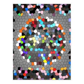 Crystal PIXEL pricker konst Vykort