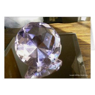 Crystal reflexion hälsningskort