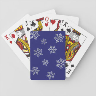 Crystal snöflingor för Sparkly blått som leker Casinokort