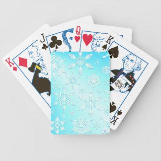 Crystal snöflingor som leker kort spelkort