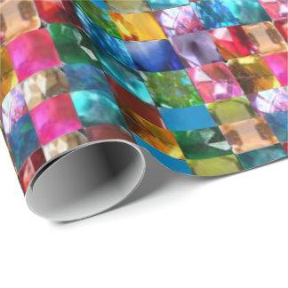 Crystal stenjuvelmönster presentpapper