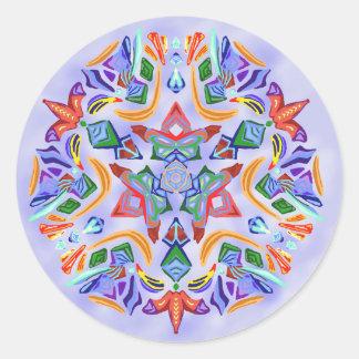 Crystal symmetri (klistermärken) runt klistermärke